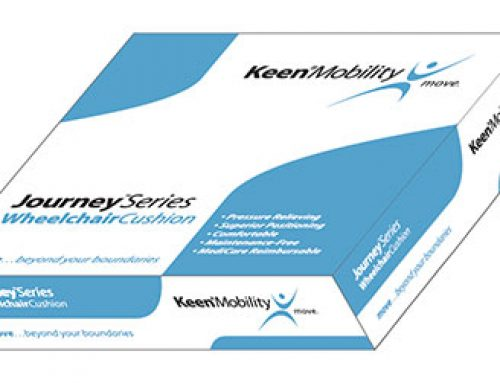 Packaging: Keen Mobility – Journey Series Wheelchair Cushion