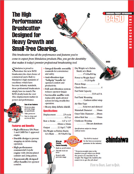 shindaiwa-b450-high-performance-brushcutter-product-sheet