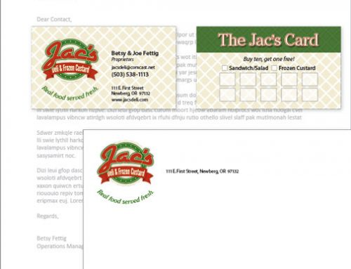 Stationery: Jac's Deli & Frozen Custard