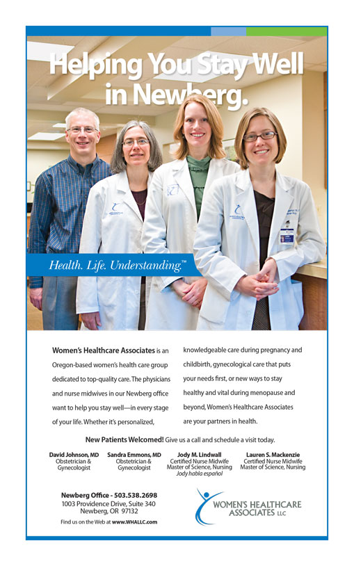 womens-healthcare-associates-newberg-newspaper-advertisement